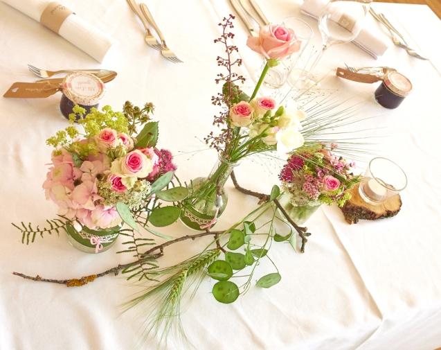 Blumen-Brauttisch
